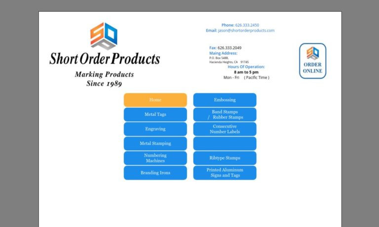 Short Order Products